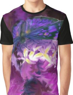 Abstract Purple Butterfly Art Graphic T-Shirt