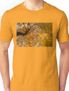 Golden Canopy - Twisted Tree Trunk Horizontal Unisex T-Shirt