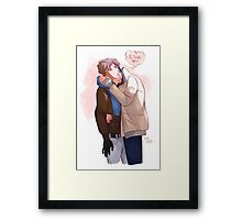 holding you like this Framed Print