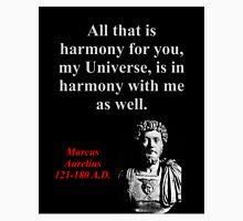 All That Is Harmony - Marcus Aurelius Unisex T-Shirt