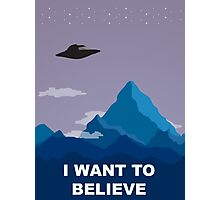 I WANT TO BELIEVE DRAWING Photographic Print