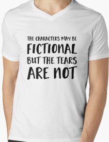 The Characters May Be Fictional Mens V-Neck T-Shirt