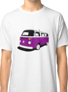 VW Camper Late Bay purple and white Classic T-Shirt