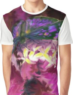 Purple Butterfly Art Graphic T-Shirt
