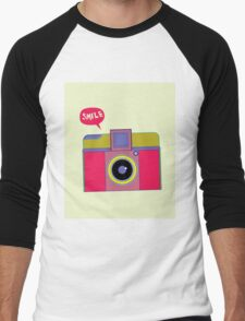 smile camera Men's Baseball ¾ T-Shirt