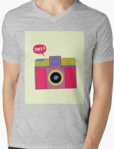 smile camera Mens V-Neck T-Shirt