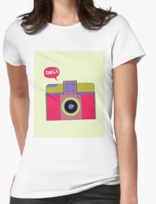 smile camera Womens Fitted T-Shirt