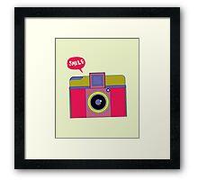 smile camera Framed Print