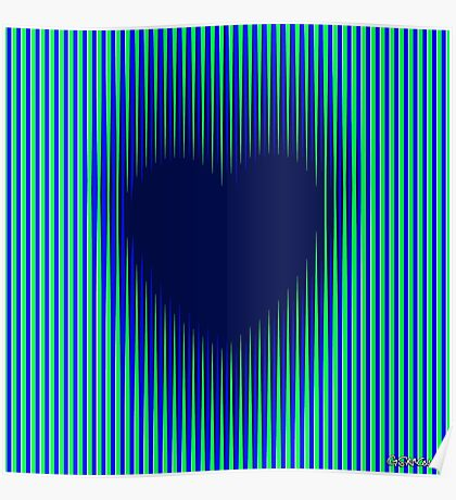 Trance Gothic Heart Poster