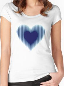 Trance Gothic Heart Women's Fitted Scoop T-Shirt