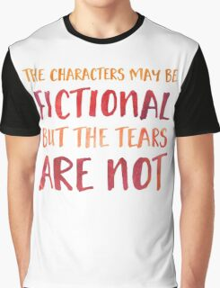 The Characters May Be Fictional (Red/Orange) Graphic T-Shirt