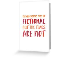 The Characters May Be Fictional (Red/Orange) Greeting Card