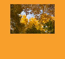 Golden Autumn Canopy - a Window to the Sky Horizontal Unisex T-Shirt