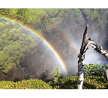 Rainbow near waterfall northern sweden Photographic Print