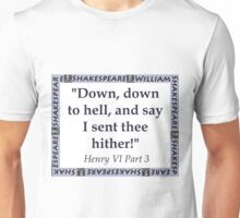 Down Down To Hell - Shakespeare Unisex T-Shirt