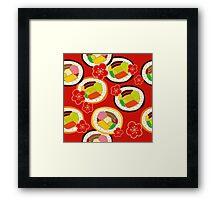 sushi 4 Framed Print