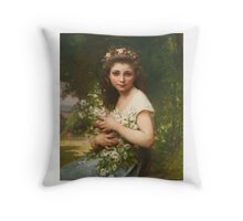 Jules-Cyrille Cavé  FRENCH PLASIRS DES CHAMPS Throw Pillow