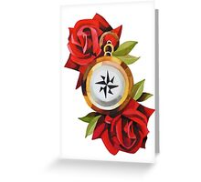 Rose & Compass Traditional Greeting Card