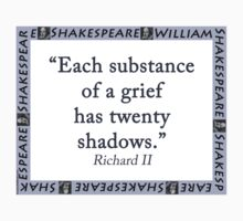Each Substance Of A Grief - Shakespeare One Piece - Short Sleeve