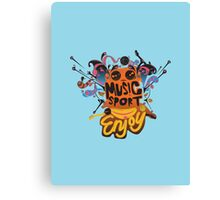 music and sport is good Canvas Print