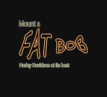 Mount a Fat Bob Women's Fitted V-Neck T-Shirt