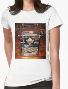 Vintage Mechanical TypeWriter Womens Fitted T-Shirt