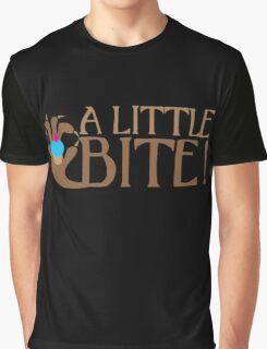 A LITTLE BITE! CAFE Shifter wolf hand and cupcake Graphic T-Shirt