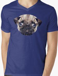 Pug Diamonds Mens V-Neck T-Shirt