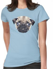 Pug Diamonds Womens Fitted T-Shirt