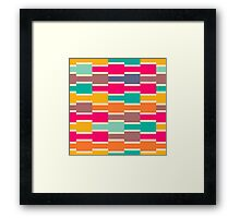 Connected colorful rectangles Framed Print