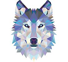 Polygonal Dire Wolf Photographic Print
