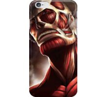 The Colossal attack on titan anime iPhone Case/Skin
