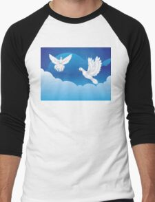 Dove in the Sky 3 Men's Baseball ¾ T-Shirt