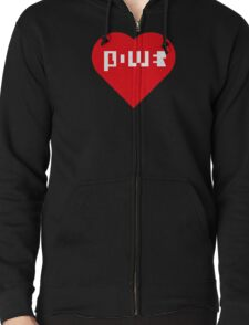 Power Of Love Zipped Hoodie
