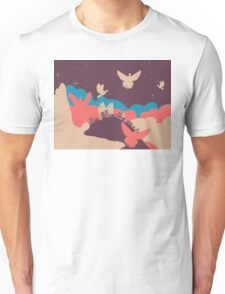Pigeon in the Clouds 2 Unisex T-Shirt