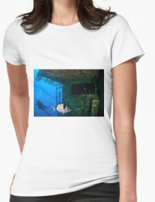 Diver at the MS Zenobia shipwreck. Womens Fitted T-Shirt