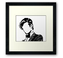 Doctor Matt The 11th - vacant expression Framed Print
