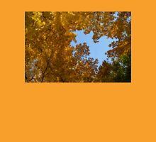 Brilliant Autumn Canopy - a Window to the Sky Horizontal Unisex T-Shirt