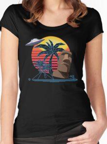 E S C A P E  E A R T H Women's Fitted Scoop T-Shirt