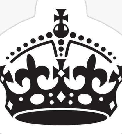 The Crown, British Crown, GB, UK, Her Majesty the Queen; black Sticker