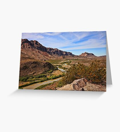 Rio Grande River Scenic View Greeting Card