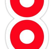 woof red Sticker
