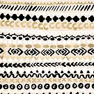 Black, White & Gold Tribal by Tangerine-Tane