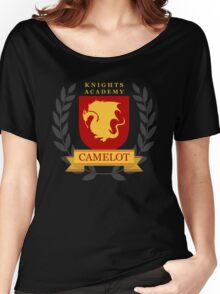Camelot Knights Academy Print Women's Relaxed Fit T-Shirt