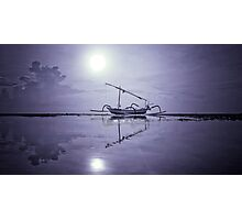 fishing boats stranded Photographic Print