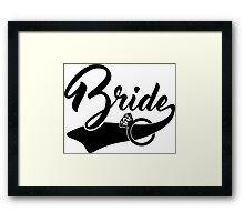 Bride ring Framed Print