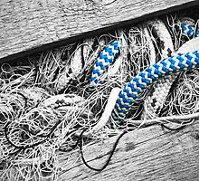 Fishing Nets and Blue Rope by Margaret Chilinski