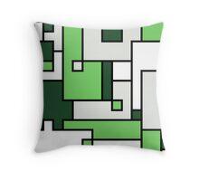 Green Maze - Rectangular Pattern Throw Pillow
