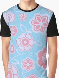Pretty Petals - Flower Pattern Graphic T-Shirt