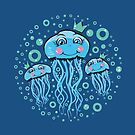 Jellyfish Princess Smiling by Silvia Neto